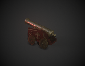 3D model Stylized Medieval Cannon