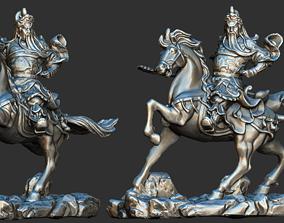 3d Scanned warrior on horse printable