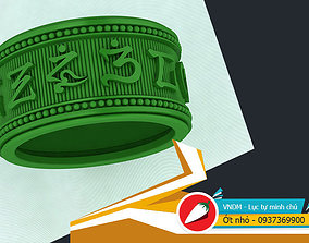 Om mani Ring 3D printable model