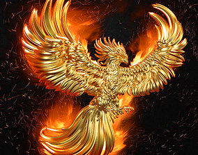 phoenix pendant men-ring 3D printable model