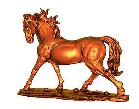 Horse 3D print model sculpture