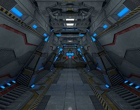 future 3D model Sci fi Corridor