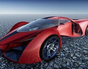 3D Ferrari F80 concept