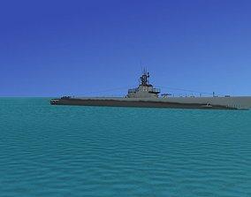 3D model Gato Class Submarine SS228 USS Drum