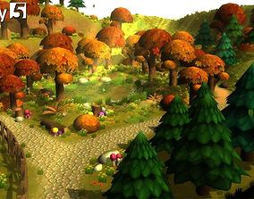 3D asset Cartoon Forest Constructor