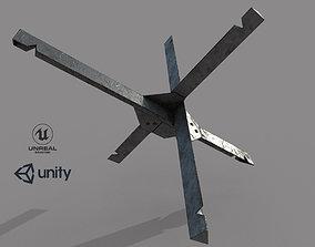 3D asset Anti-tank hedgehog