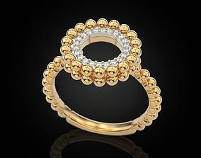 Ring of spheres 3D print model