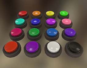 Buttons 3D model low-poly