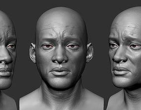 Will Smith 3D head Sculpt