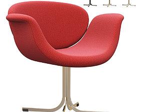 3D model Tulip Midi chair cross-base by Artifort