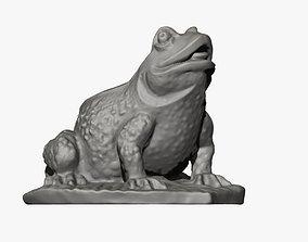 3D print model Frog on a Leaf Sculpture