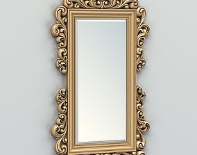 3D Rectangle mirror frame 011