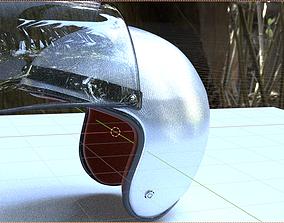 3D asset Motorcycle Helmet with Visor Vintage