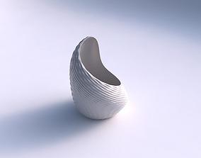 3D printable model Vase Tide with grid piramides
