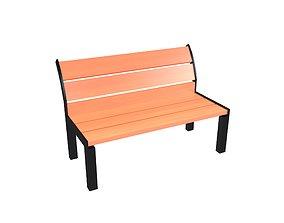 Park Chair v1 003 3D asset
