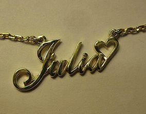 Julia name pendant 3D print model