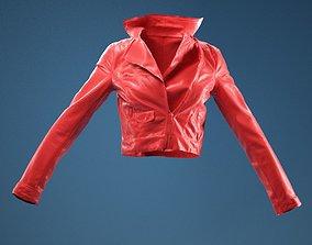 Half Open Leather Jacket 3D model
