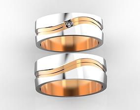 Combined wedding bands 3D print model