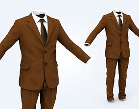 Business Suit Man 3D model game-ready guy