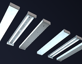 3D model VR / AR ready Fluorescent lamp