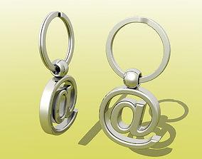 Mail Key Ring 3D printable model
