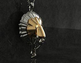 ballet dancer pendant 3D printable model