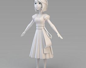 Cartoon Snow White 3D model