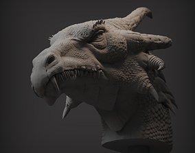 Dragon Bust sculpture 3D print model