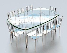 3D printable model glass table