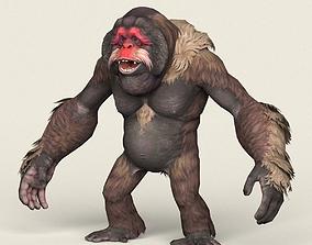 3D asset Game Ready Fantasy Orangutan