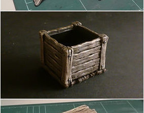 Wooden box 3D printable model