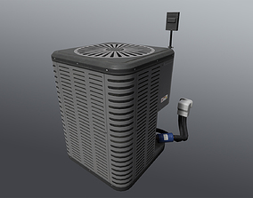 Air conditioning condenser unit 3D asset