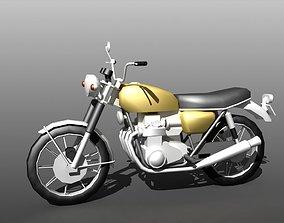 Low-poly Motorbike 3D asset
