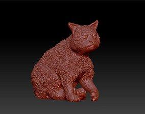 3D print model cat grumpy figurines statue