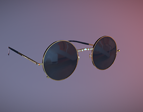 3D model Retro Sunglasses