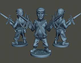 3D printable model Donald Trump RamboMan