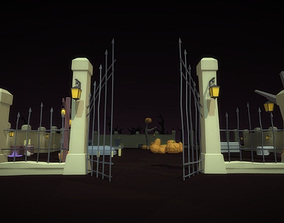 3D model Low Poly Halloween Pack
