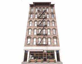 3D Classic New York building facade