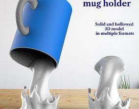 3D printable model Mug holder cup holder Splash home decor