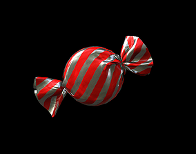 wrapped candy 3D asset low-poly