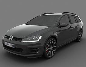 3D Volkswagen Golf GTD Variant 2015