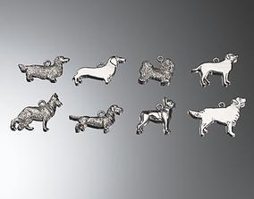Dog charms pack 3D printable model