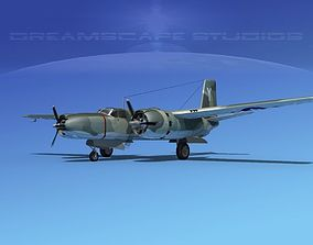 Douglas A-26B Invader V07 3D model