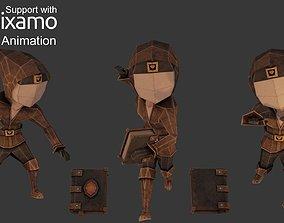 3D asset Wizard Character