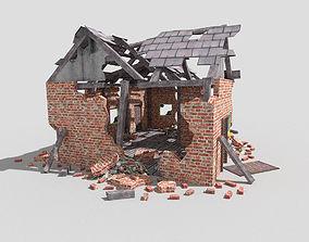 destroyed house 2 3D model