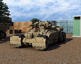 3D asset game-ready Sci-fi Tank