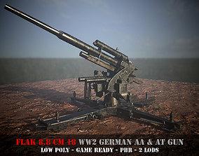 Flak 88 - WW 2 German AA and AT gun - Game 3D asset 3