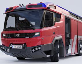 3D rigged Rosenbauer RT Fire Truck
