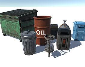 Trashbin set 3D model