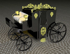 3D model Horse Carriage of Count Dracula